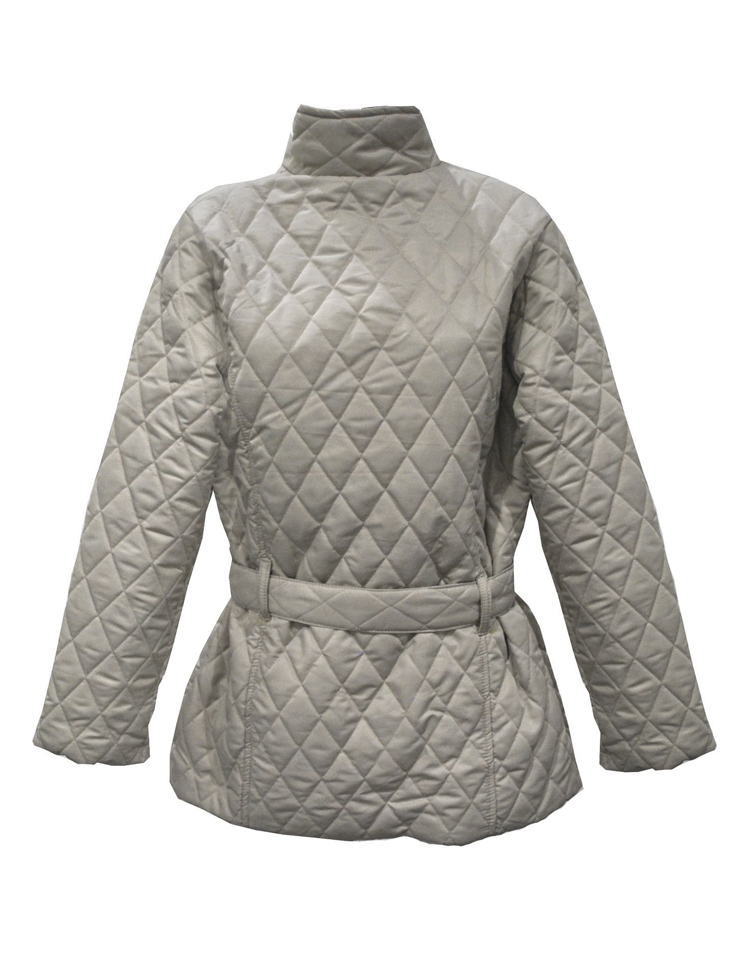 Ladies Plus Size Stone Quilted Jacket